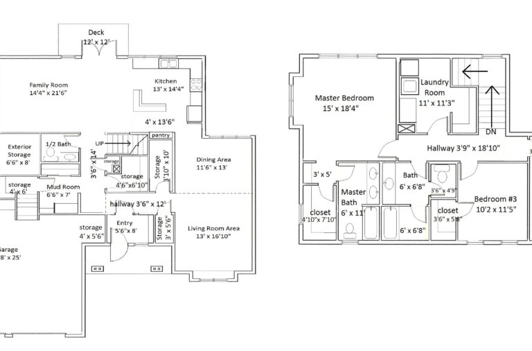 Floorplan of type 24 home with dimensions