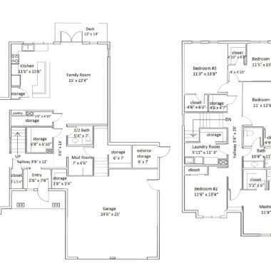 Floorplan 25 with room labels and dimensions