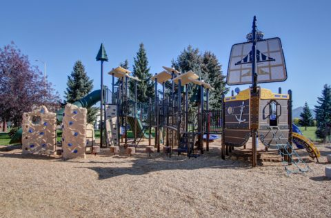 A pirate themed playground at a JBER neighborhood