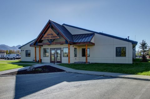 The exterior of the Aurora Military Housing Elmendorf Office on JBER