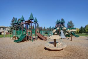 A Forest Fort themed playground at JBER's Cherry Hill neighborhood
