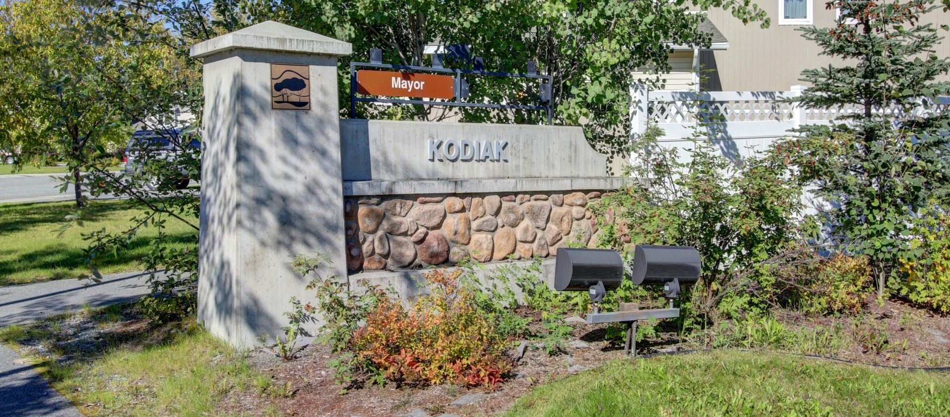 JBER's Kodiak neighborhood entrance sign