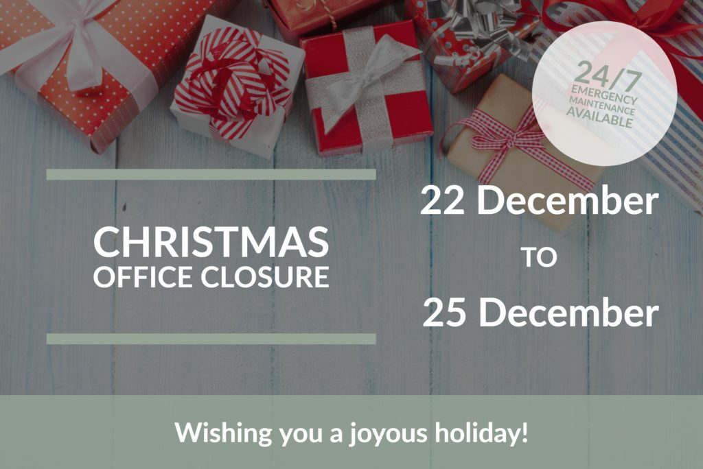 Christmas Closure Graphic