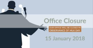 MLK day office closure sign