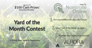 yard of the month contest