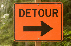 road detour sign