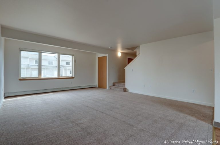 Photo of carpeted living room