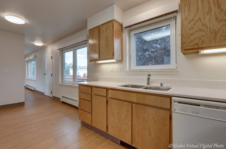 Photo of kitchen with window over sink