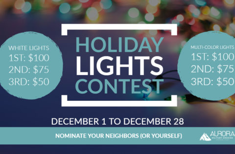 Holiday Lights Contest runs from Dec 1 to Dec 28