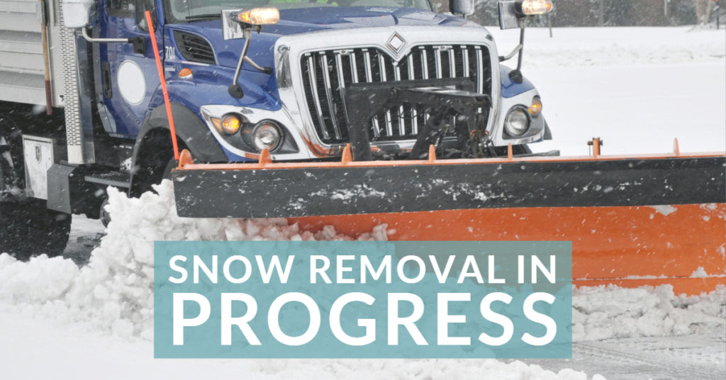 Snow Removal in progress