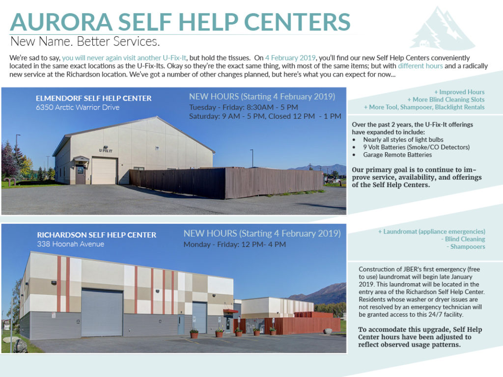 Self Help Center Transition Flyer
