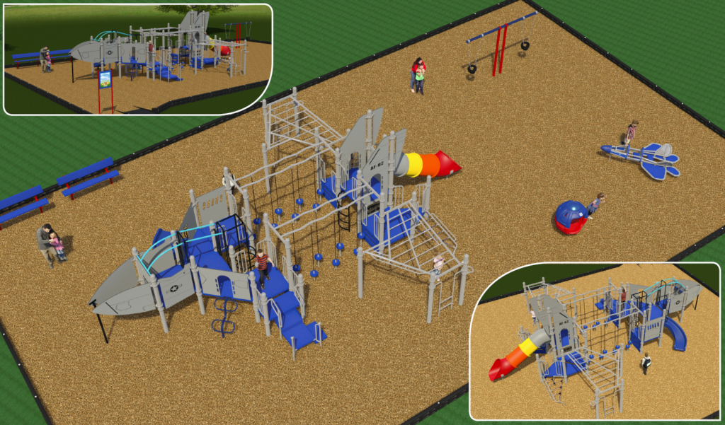 Graphic of proposed outer space themed playground