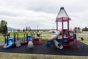 Space themed playground on JBER Richardson