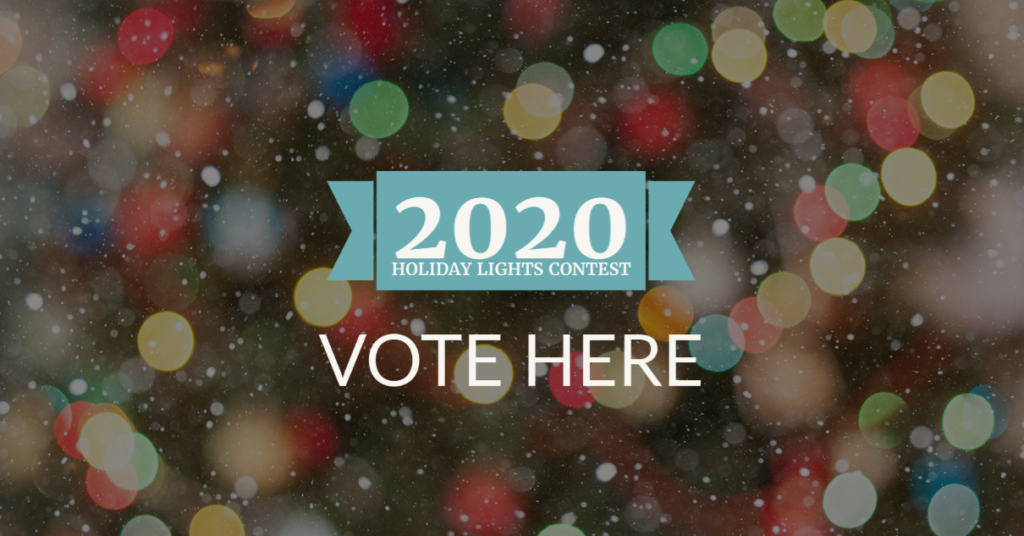 holiday lights contest voting in progress banner