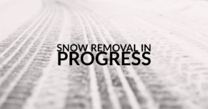 snow removal in progress graphic